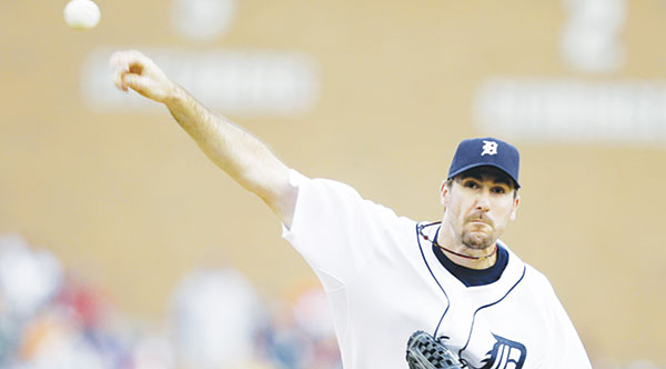 <span class='credit'>Photo Courtesy of MCT Campus</span><span class='description'>On the Fly: Justin Verlander throws a pitch against the Mariners on August 19th.</span>