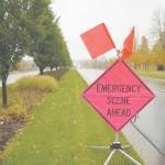 Emergency Ahead. Photo by Dan Hamilton   News Editor
