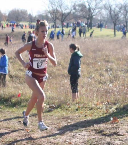 All-American: FSU junior Anna Rudd, above, claimed All-American honors along with her teammate, senior Tina Muir. The Bulldogs tied for eighth place at the national championships on Nov. 19. Photo By: Kate Dupon   Photo Editor