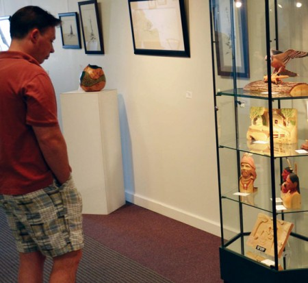 Work of Art: The Artworks gallery, located downtown Big Rapids, mostly features work from local artists. The gallery also has a gift shop and art studio where arts and craft activities are held. Photo By: Eric Trandel   Photo Editor