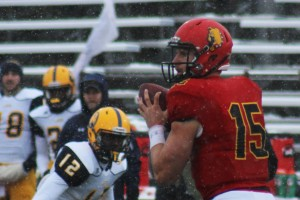 Senior quarterback Jason Vander Laan was awarded the Harlon Hill Trophy in 2014, and has once again been named a contender this year.