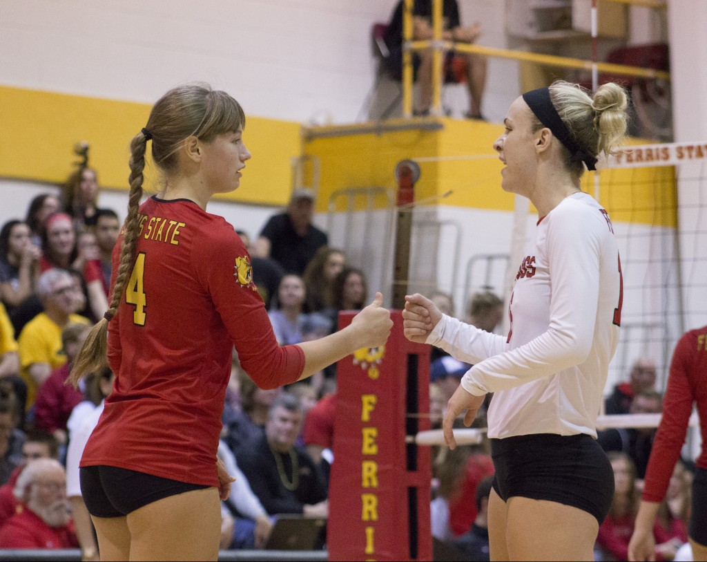Senior outside hitter Megan Vander Meer leads the team in kills this year with 345, while fellow senior libero Danielle Dowd leads in digs with 502.