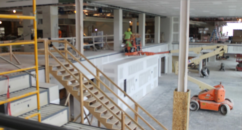 The UC has begun construction on what is to become the second Shooters location in Big Rapids.